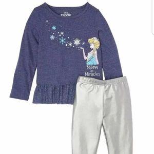 Disney frozen shirt and pant set